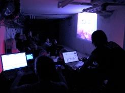elmur zzz urban intervention video art collective visual dialogue IAM Berlin live performance LQ